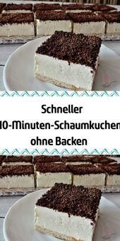 Fast 10minute foam cake without baking  Backen
