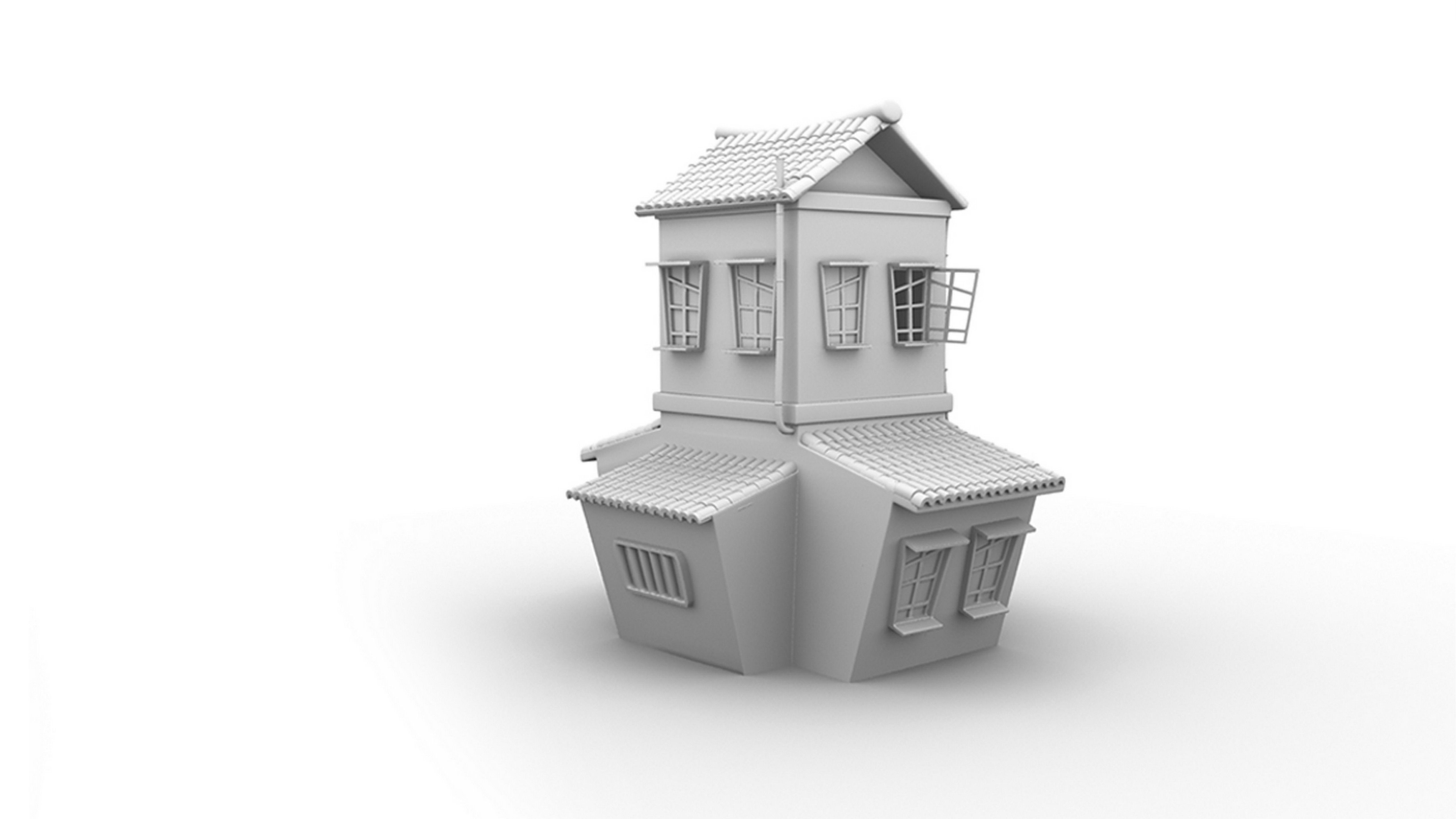 cartoon house 3d model | 3D work\'s | Pinterest | Cartoon house and 3d
