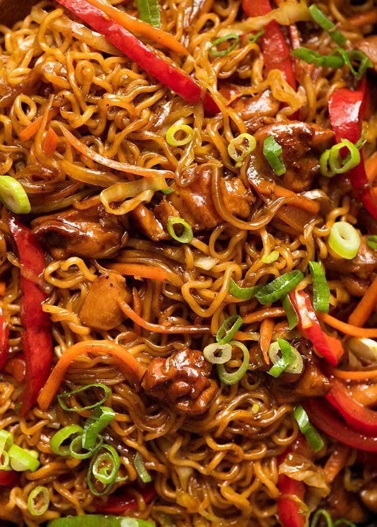Chicken Vegetable Ramen Noodles Receta Comida Thai Recetas