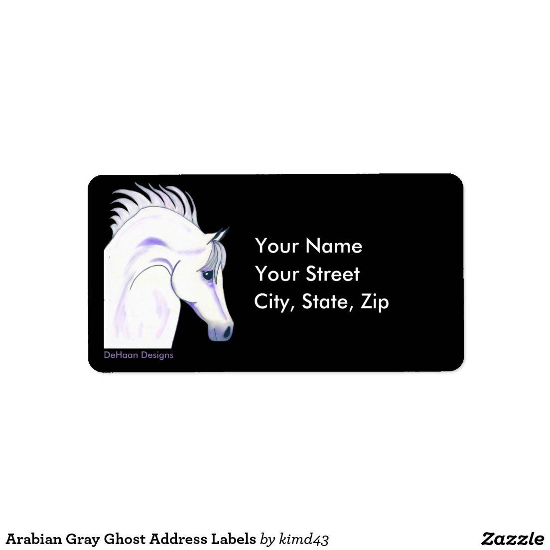 Arabian Gray Ghost Address Labels