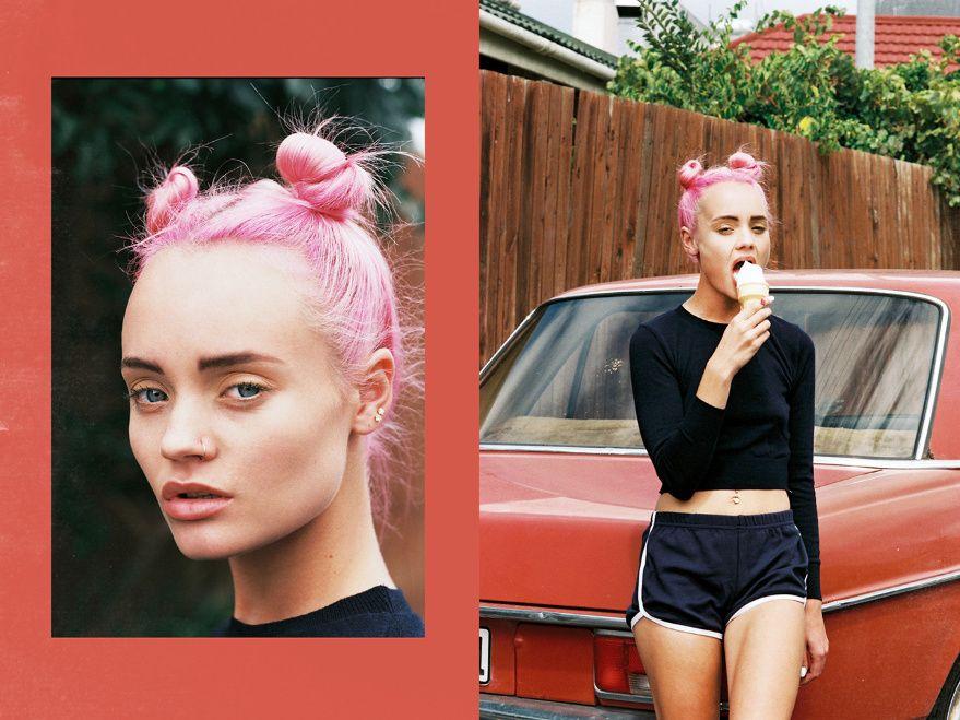 Natassja van der Merwe in 'Woodstock's Pink Affair' by Dennis Swiatoski for Vice Magazine