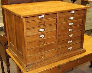Antique Filer Filing Cabinet Card Catologue 329 Ottawa St