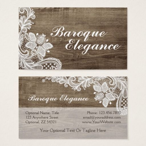 Vintage baroque lace on rustic elegant barn wood business card vintage baroque lace on rustic elegant barn wood business card country branding marketing by cyanskydesign reheart Image collections