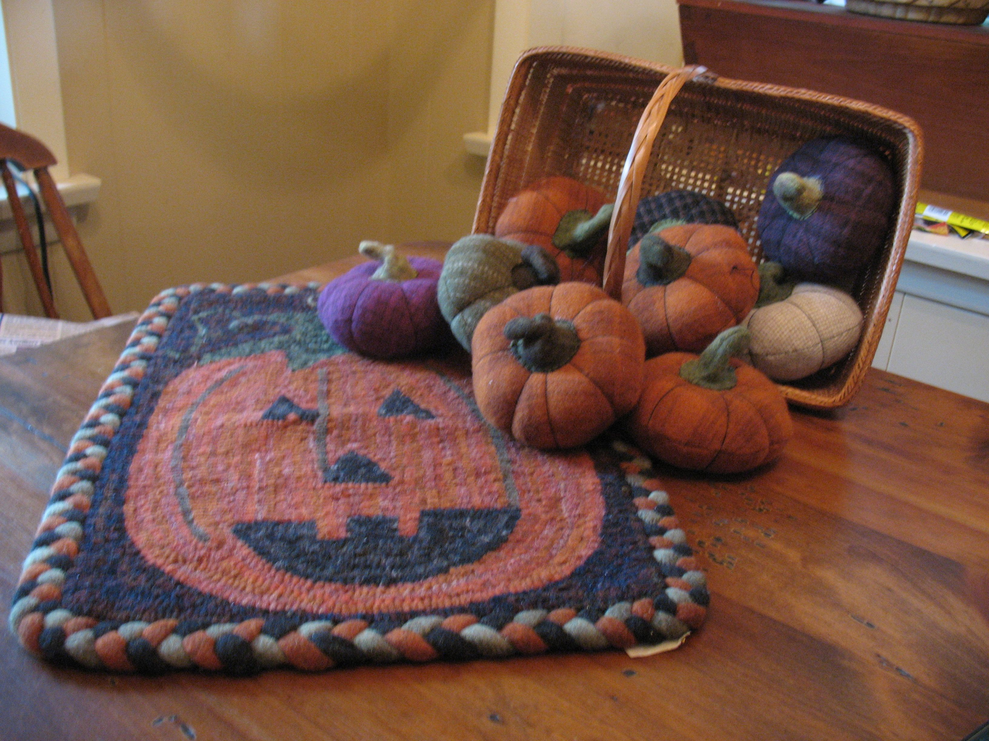 Getting ready for fall rug and pumpkins by janice sonnen my getting ready for fall rug and pumpkins by janice sonnen kristyandbryce Images