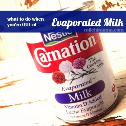Can You Substitute Evaporated Milk?
