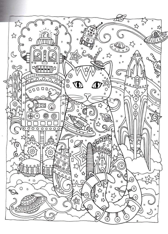 Ausmalbilder Katzen Für Erwachsene : Gatos Para Colorir Animals Pinterest