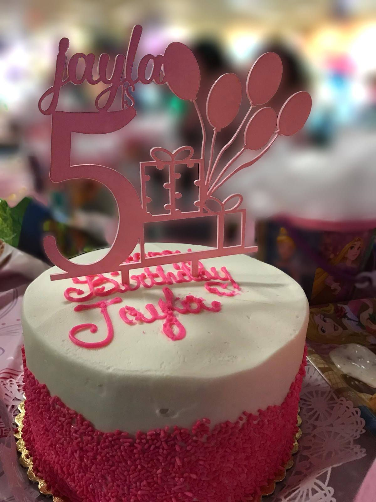 Birthday Cake Topper, Personalized Cake Topper (With