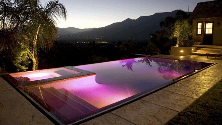 ooh purple nice led pool lighting amazing swimming on beautiful inground pool ideas why people choose bedrock inground pool id=41855