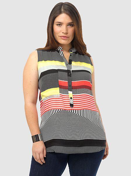 1851e5e7b84000 Naviva Top | Find What Fits: Taller Styles | Tops, Fashion, Stripe print