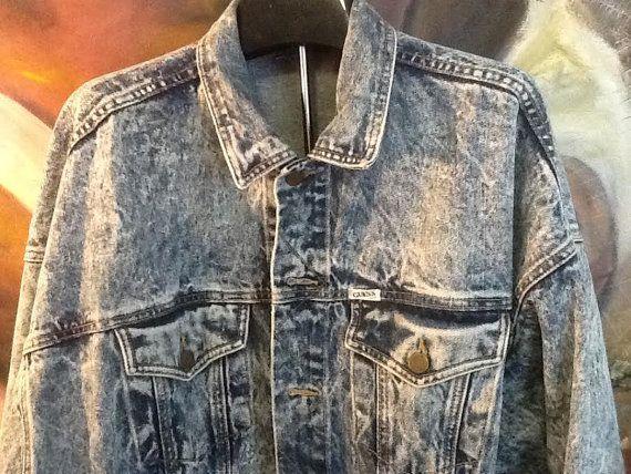 Vintage Guess Denim Jacket / Guess Acid Wash Jean by thesoupison