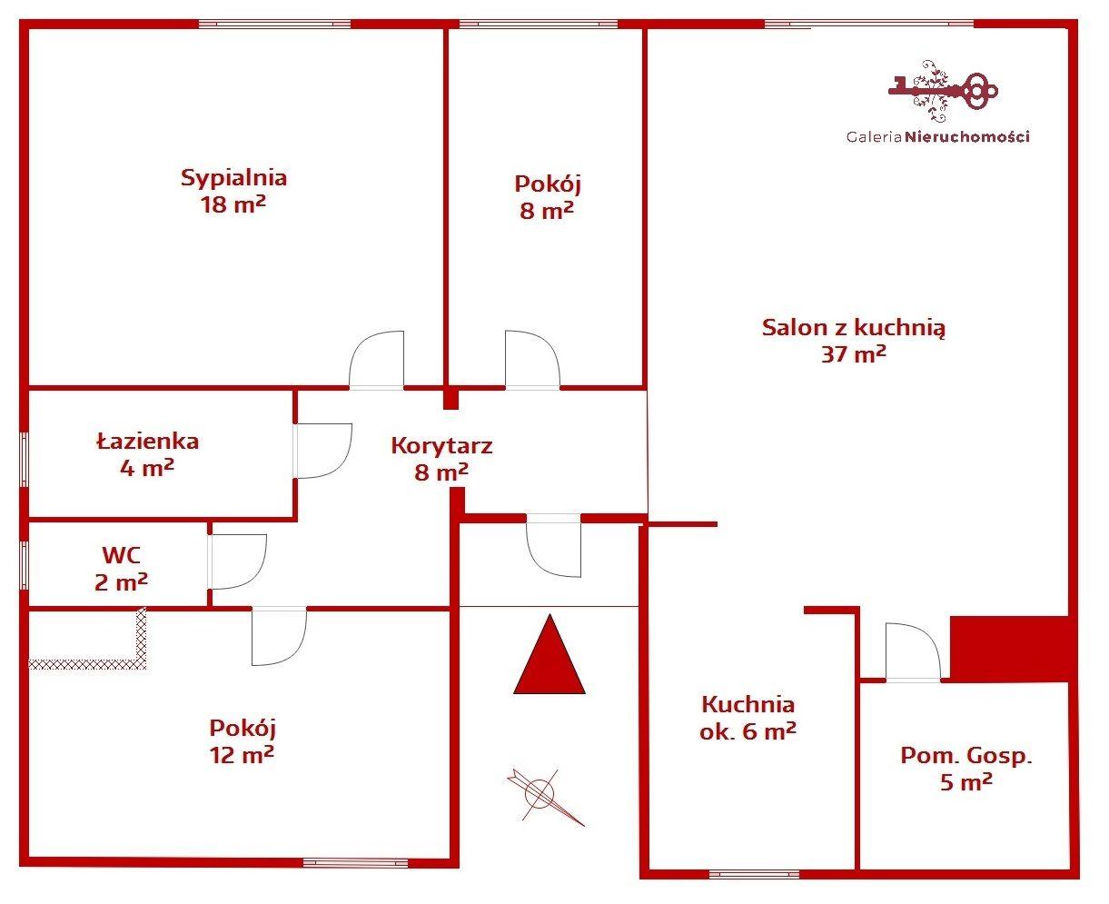 Wygodny Uklad Pomieszczen Okna Na Dwie Strony Swiata Plan Mieszkania 91 M2 Line Chart Diagram Floor Plans