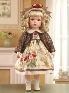 #31380 Caitlin Rose Garden Collectible Porcelain Doll by sensationaltreasures