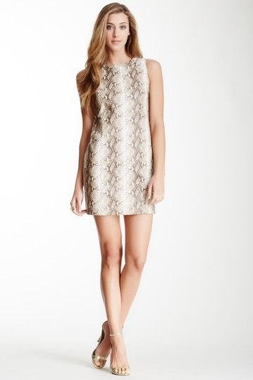 Gracia Faux Snake Skin Print Shift Dress by Non Specific on @HauteLook