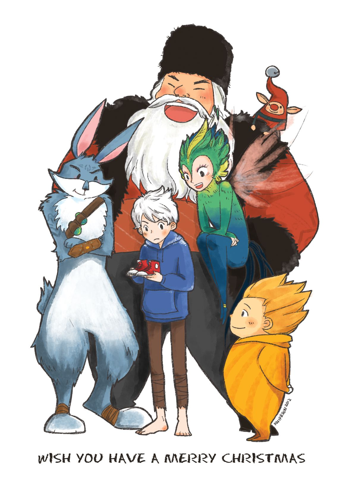 Merry Christmas Rise Of The Guardians Anime Animated Cartoons