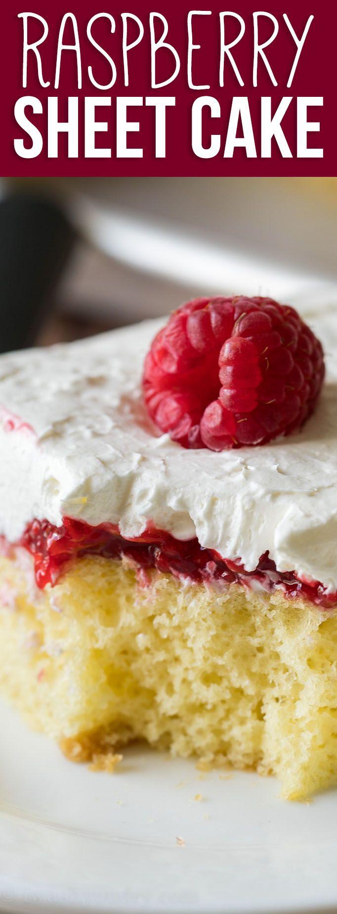 Vanilla Raspberry Sheet Cake -   12 desserts For Parties cake ideas