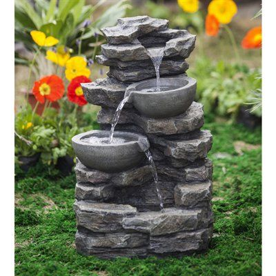 Jeco Fcl081 Rock And Pot Waterfall Water Fountain Rock And Pot