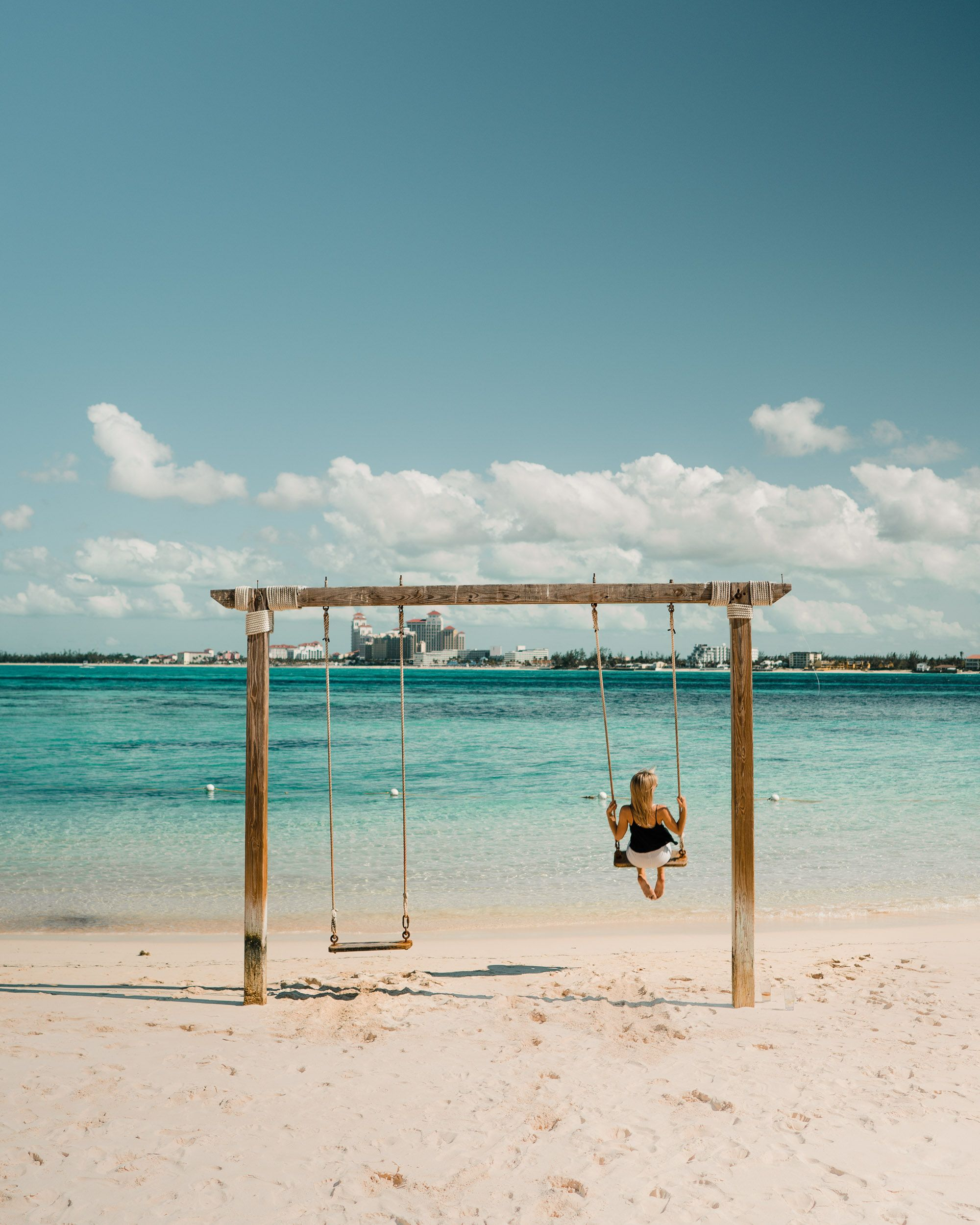 f65dcf1ace8f48 Swing on the water at Sandals private island resort in Nassau Bahamas