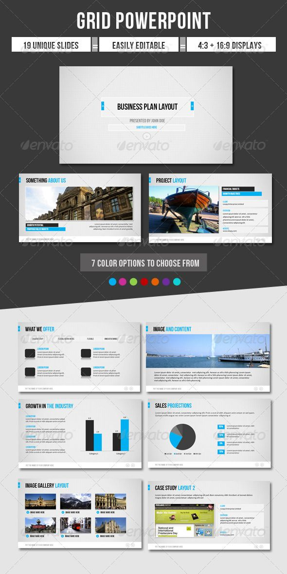 Presentation Templates - Grid Powerpoint GraphicRiver