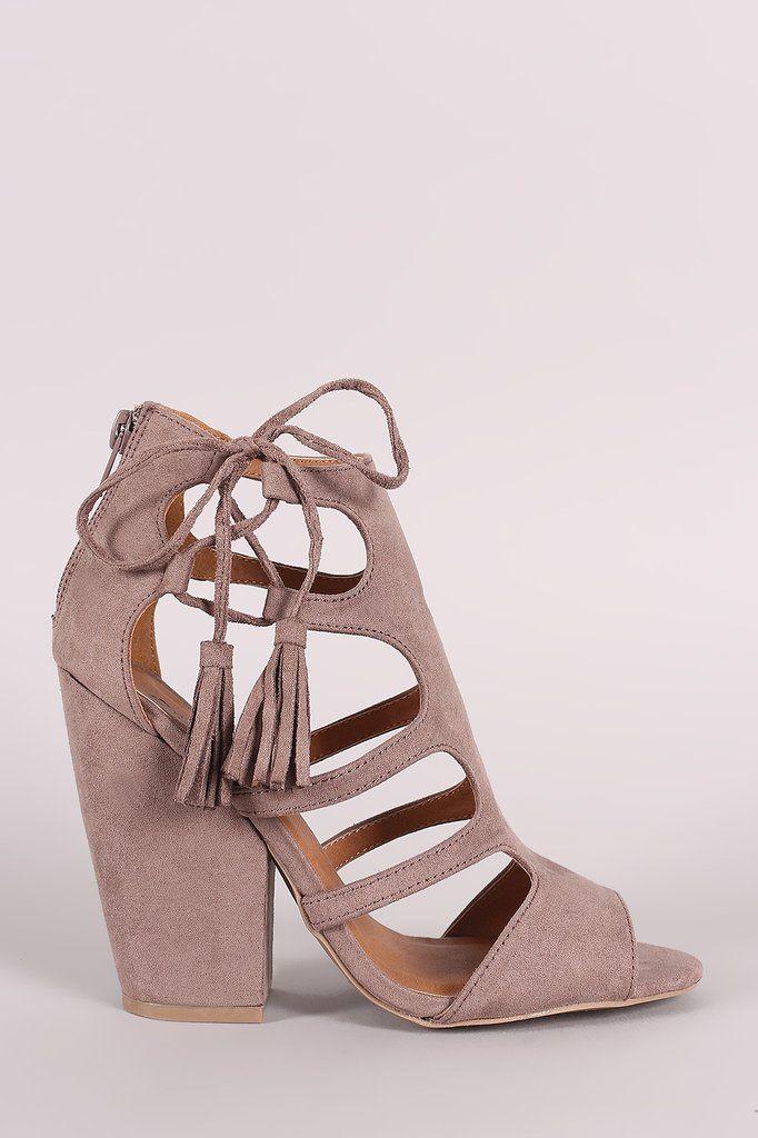 f12bfbc9aa38 Qupid Cage Side Lace Up Chunky Heel – Style Lavish