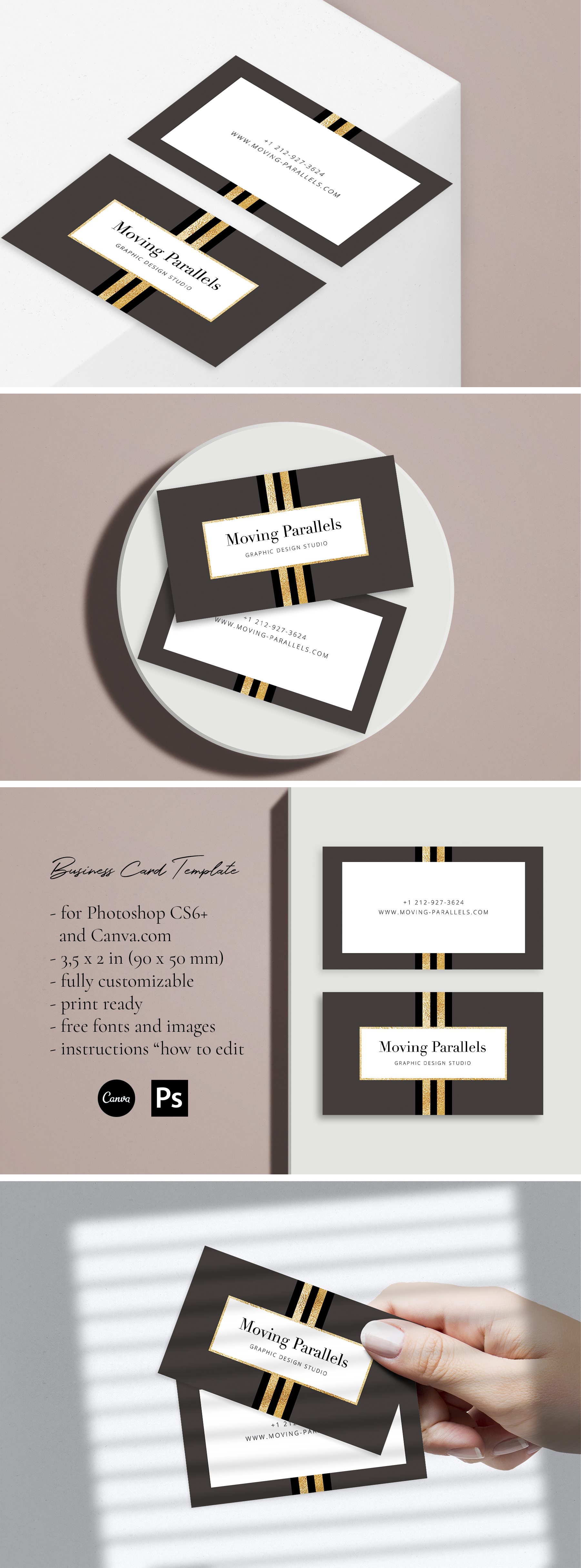 Elegant Gold Business Card 7 In 2020 Gold Business Card Business Card Template Business Card Design