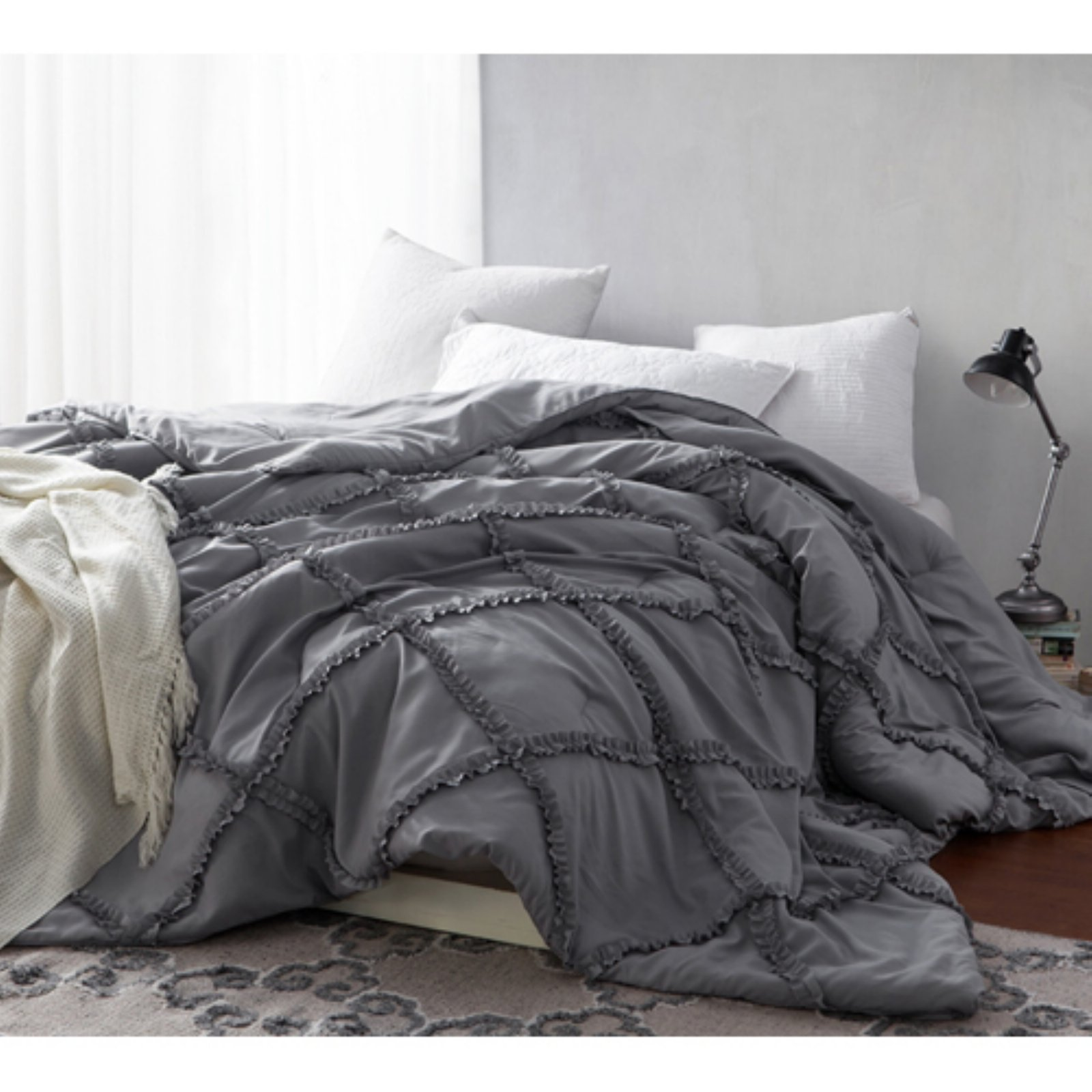 341e583fb9 Handcrafted Series Gathered Ruffles Oversized Comforter by Byourbed Alloy  Bedroom Ideas, Bedding, Online Shopping