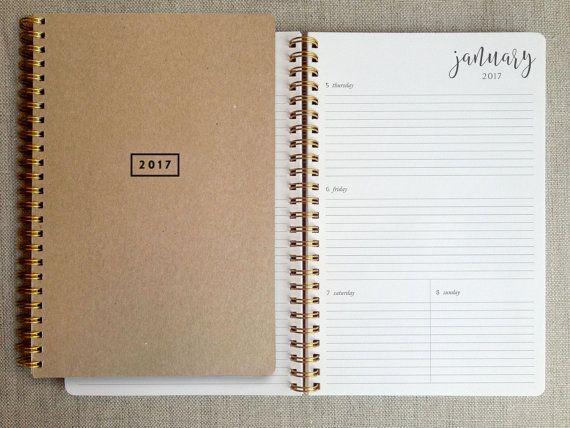 12 months, Jan-Dec 2017 A simple, elegant 12-month planner - k chenkalender selbst gestalten