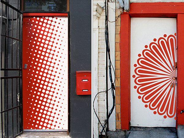 Artistic Wall Decals For The Door Wall Decals Door Decals Painted Doors