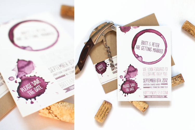Love This Save The Date Idea For Wine Themed Wedding