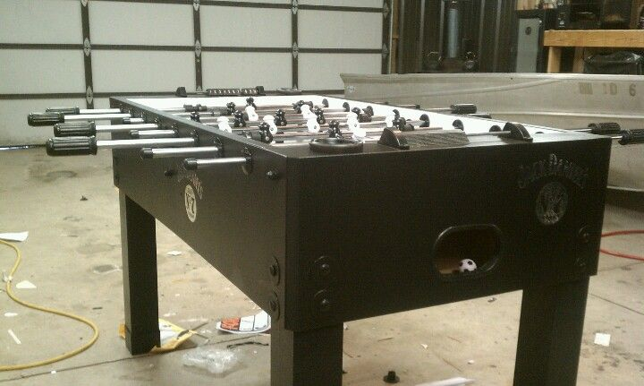 Referbished foosball table