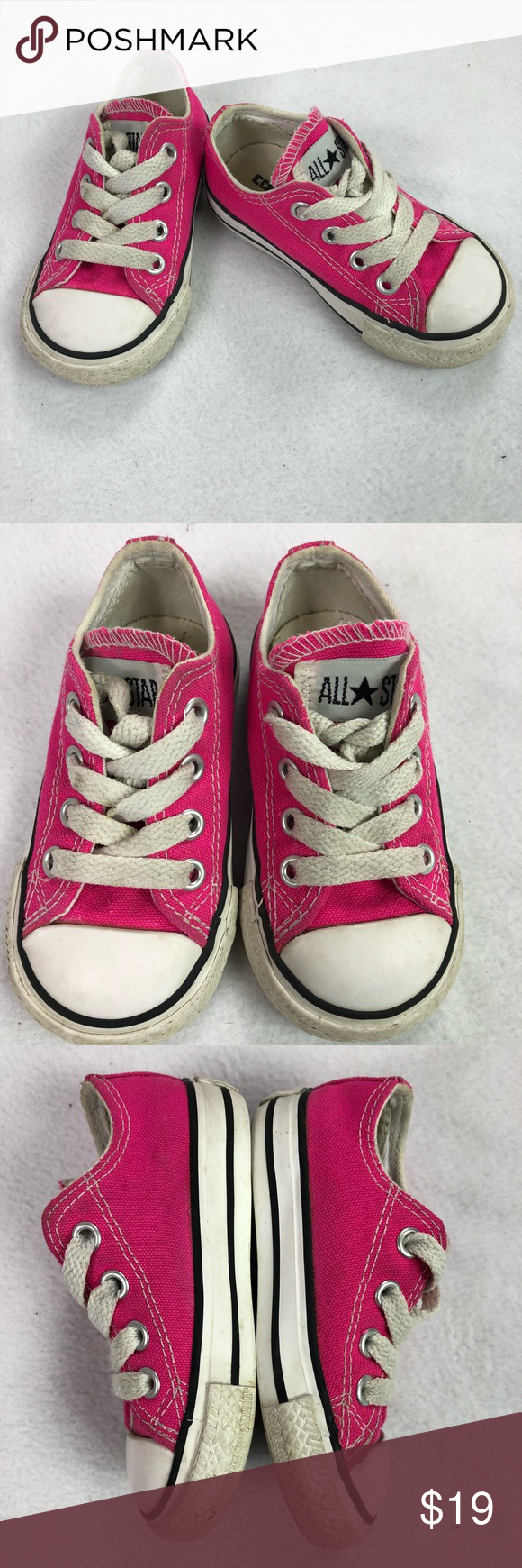 e01571f966b24d Pink Converse All Star Loe Top Shoes toddler Sz 5 Great pair of gently used  infant  toddler chuck Taylor Converse All Star pink shoes size 5 Converse  Shoes ...