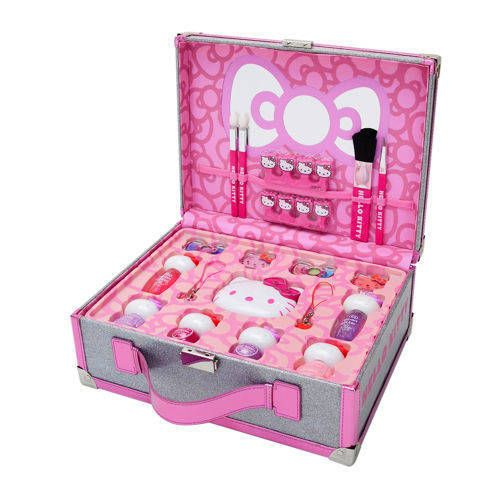 28b728ac2 HELLO KITTY 36 Piece Makeup Beauty Collection & Cosmetic Case 40th  Anniversary #HelloKitty
