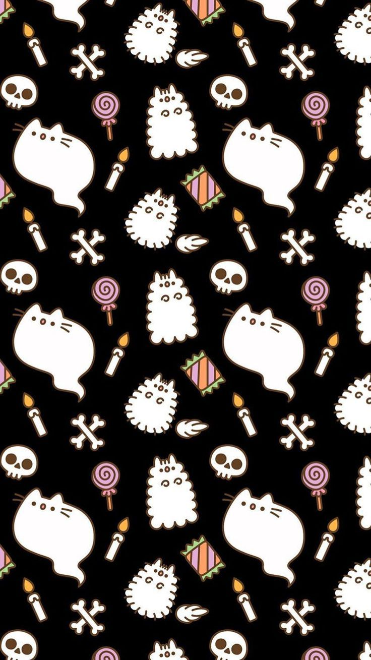 Wallpaper Wednesday, pusheenhalloweenwallpaper wallpaper