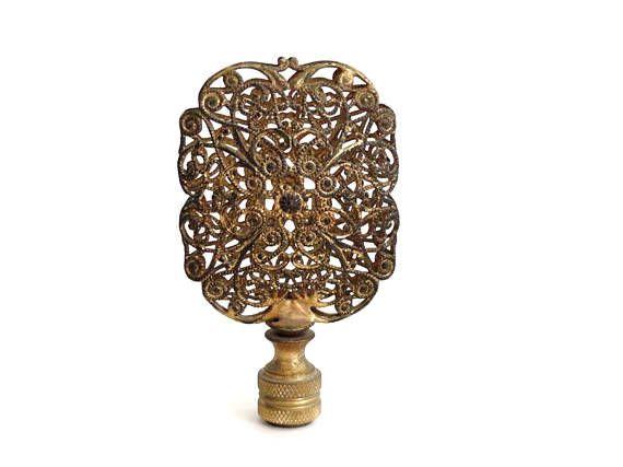Rococo Ormolu Filigree Lamp Finial Decorated Openwork Antiqie Lamp Finial Lamp Finials