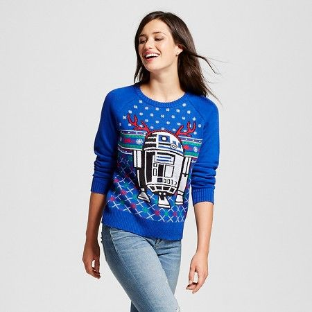 Women's Star Wars® R2D2 Ugly Christmas Sweater Blue : Target | Eep ...