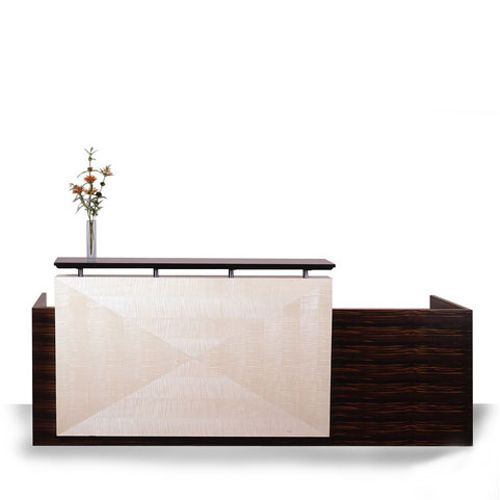 Office furniture office reception area furniture ideas Lobby Reception Reception Desk Concept Something Like This Might Be Cool If That Middle Panel Was Steel Pinterest Reception Desk Concept Something Like This Might Be Cool If That