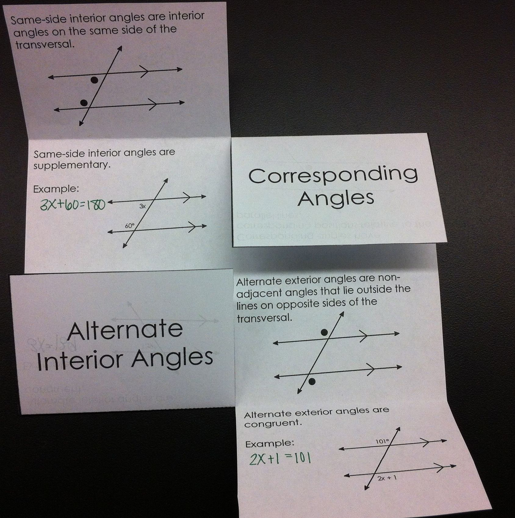 Parallel lines with transversals interactive foldable geometry parallel lines with transversals foldable perfect for interactive notebooks robcynllc Choice Image