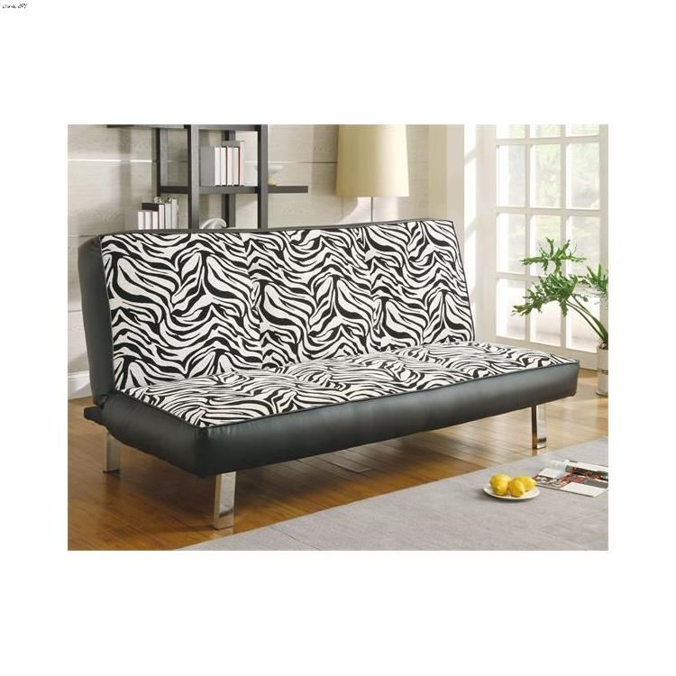 Zebra Patterned Sofa Bed 300230 By Coaster Contemporary Upholstery Fabric Sofa Bed Design Modern Upholstery