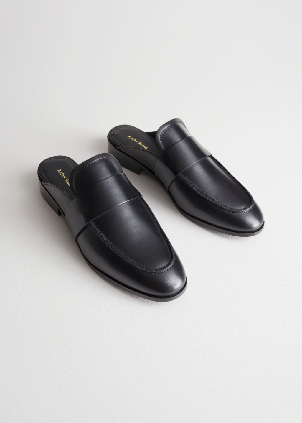 Men/'s Genuine Leather Buckle Mules Slip On Slippers Backless Flats Black Shoes