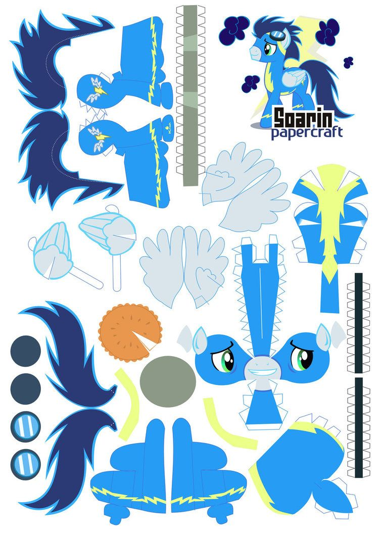 Soarin papercraft by *Kna on deviantART
