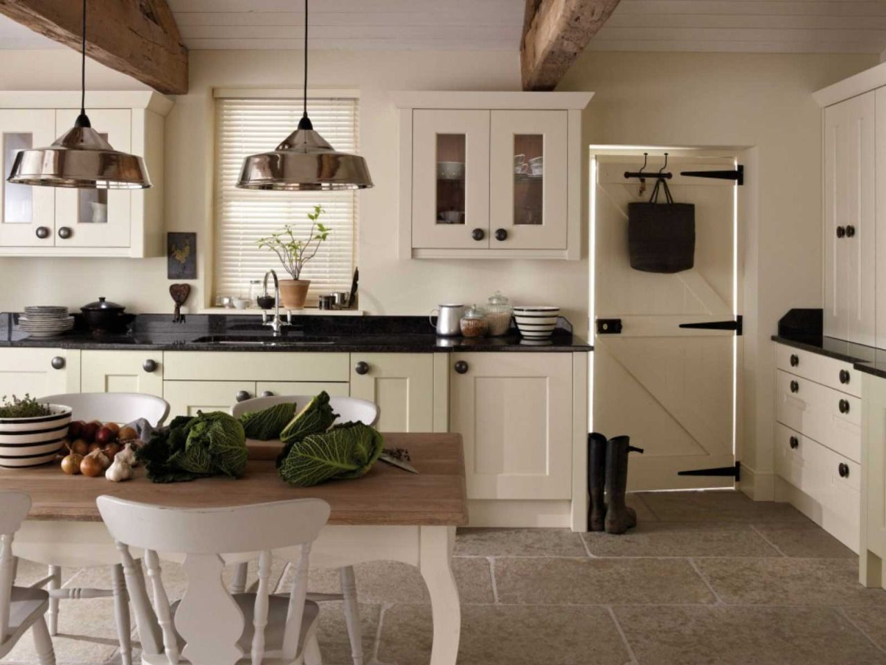 Classic farmhouse kitchen with a modern twist.  Modern country