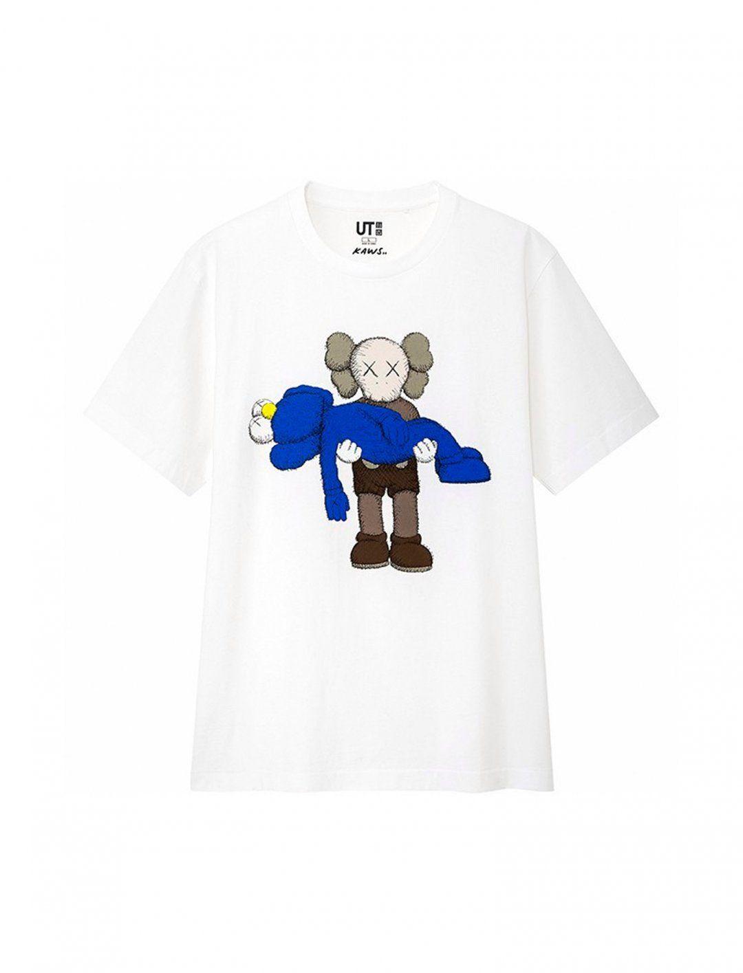 NEW KAWS × UNIQLO UT Summer UNIQLO 2019 XX Men/'s T-Shirt Blue from JAPAN F//S