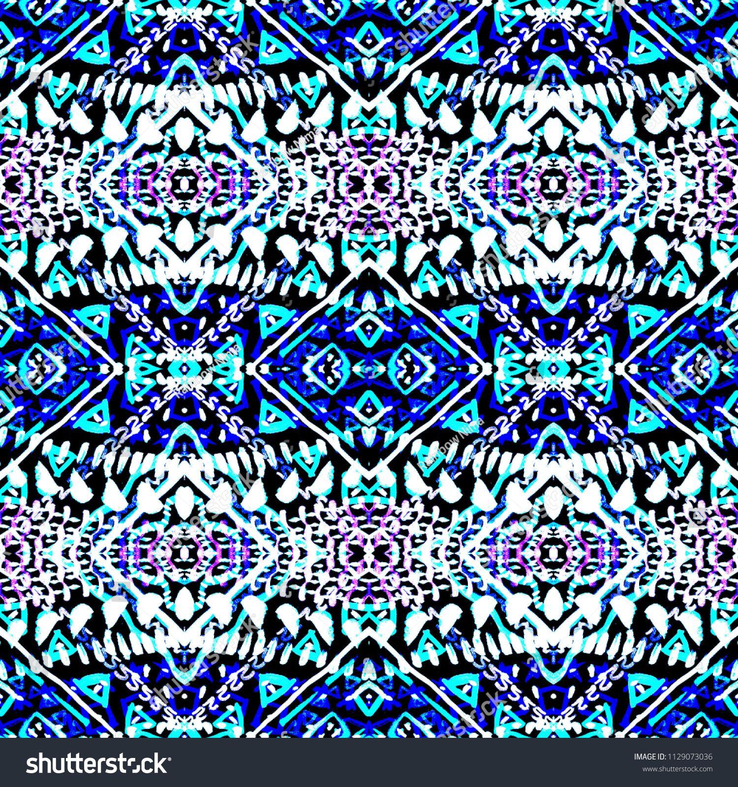 59bd14ff Tie dye indigo shibori print. Seamless hand drawn boho pattern. Ink  textured japanese background. Modern batik wallpaper tile. Watercolor  pattern for fabric ...