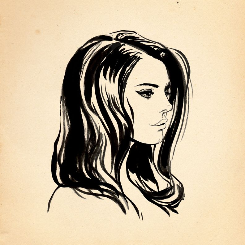 Ink Sketch - Lana Del Rey I woke up this morning really ...