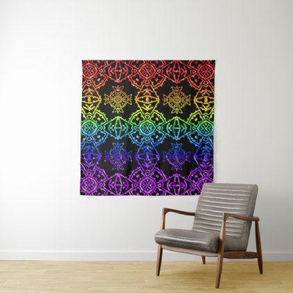 Mosaic Cross Wallpaper Rainbow 2 Tapestry