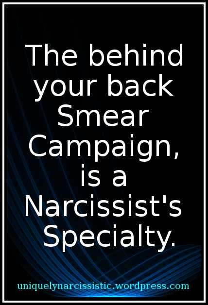 Image result for narcissist sociopath smear campaign