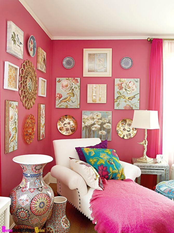 red and fuschia livingroom - Google Search | Cute Apartment Ideas ...