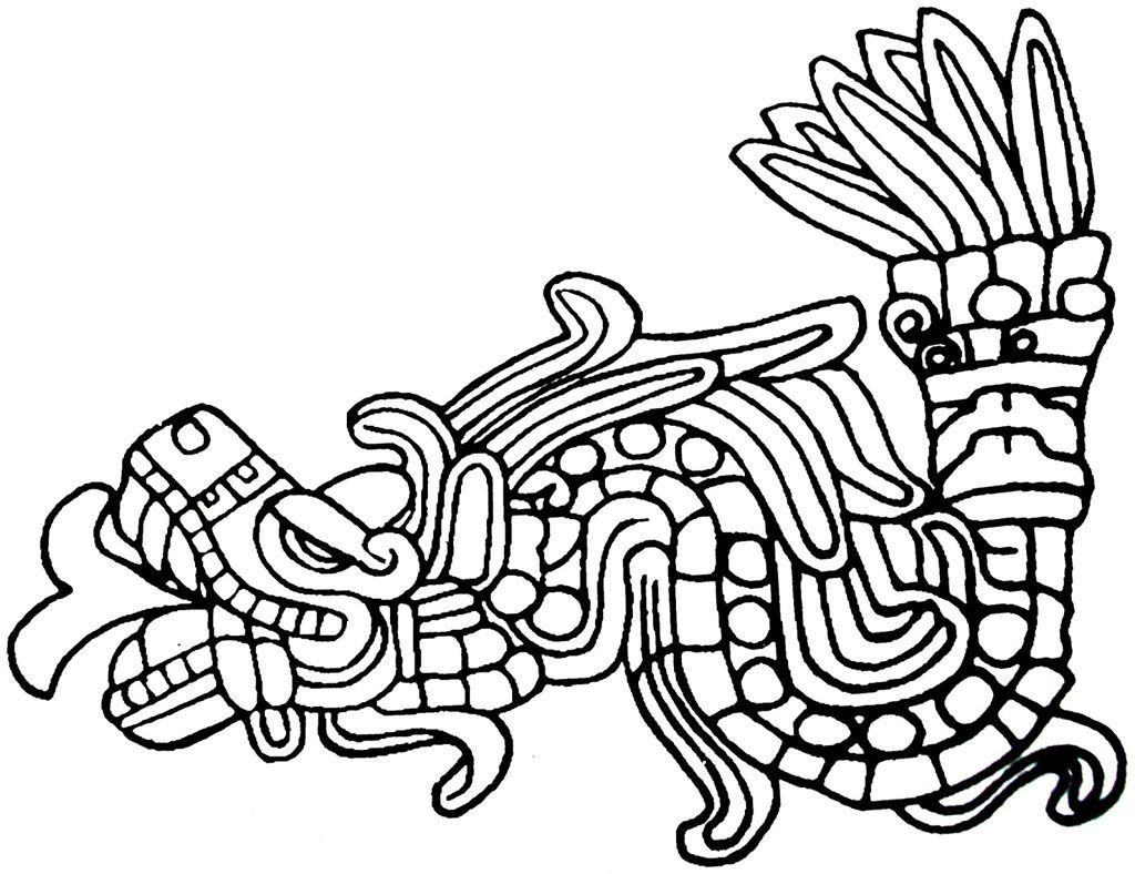 aztec murals coloring pages - photo#15