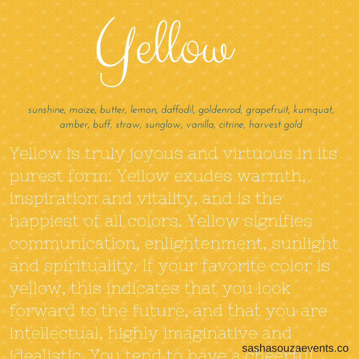 all about yellow weddings Yellow quotes, Yellow meaning