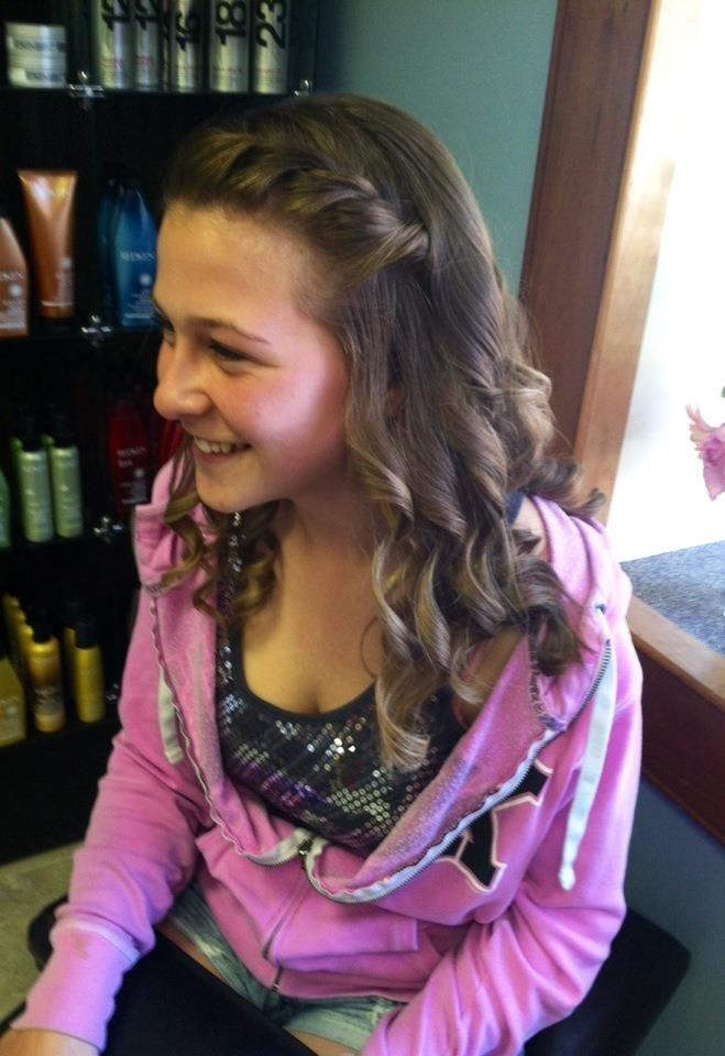 Simple, semi-formal hair. | Cotillion | Pinterest | Semi ...
