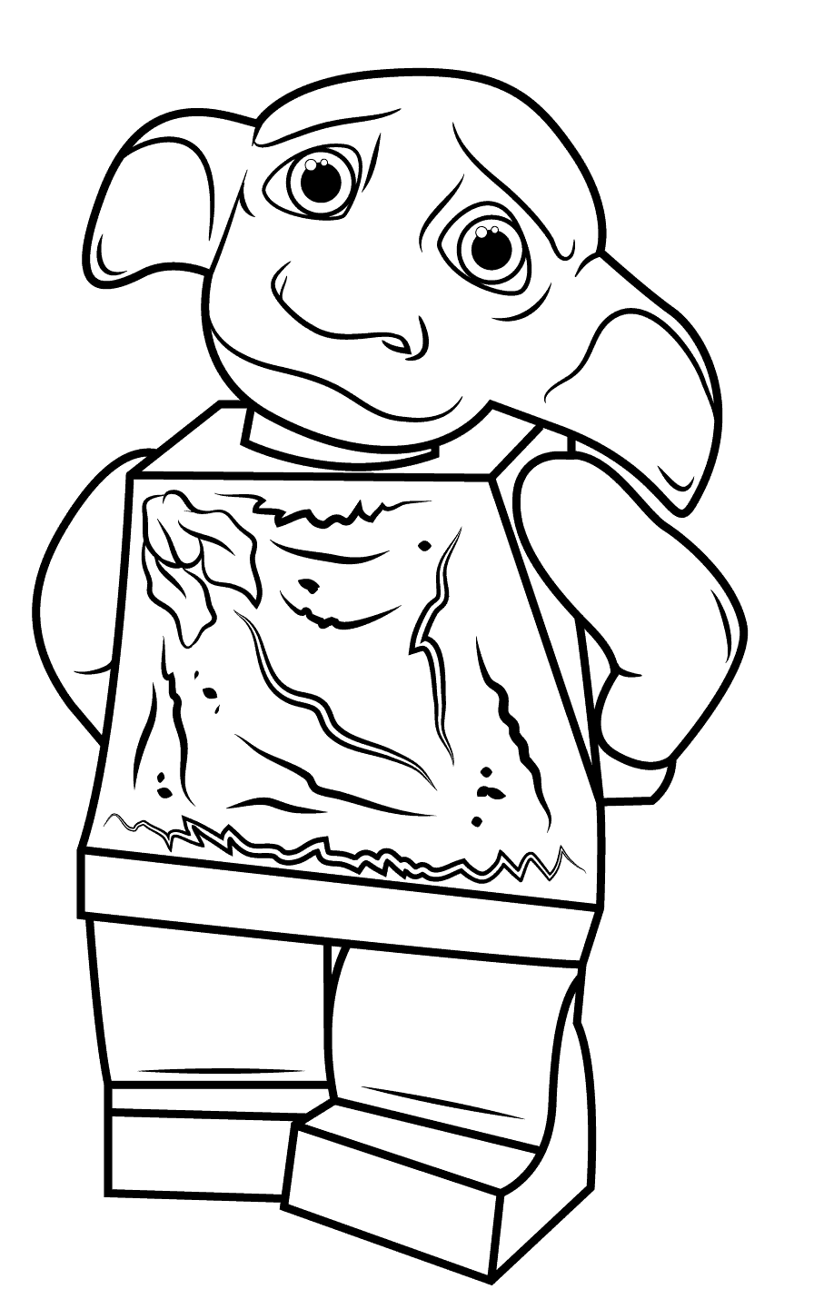 Dobby Harry Potter Lego Colouring Page Printable Dobby Harry Potter Harry Potter Coloring Pages Lego Coloring Pages
